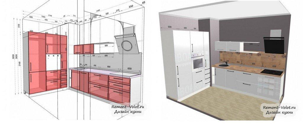 проекты кухонь с размерами 20 фото готовые эскизы типовых