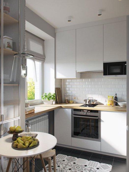 кухня в хрущевке дизайн интерьера 90 реальных фото ремонт идеи